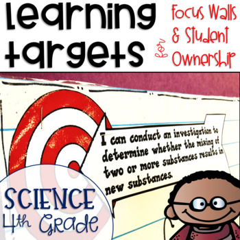 Next Generation Science Standards NGSS Learning Targets for Science 4th grade