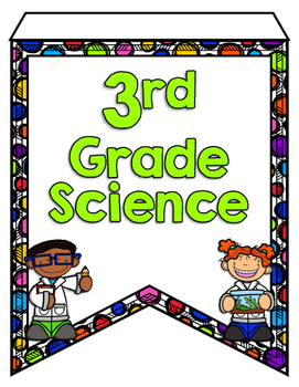 Next Generation Science Standards Pennant Banners 3rd Grade - Polka Dot