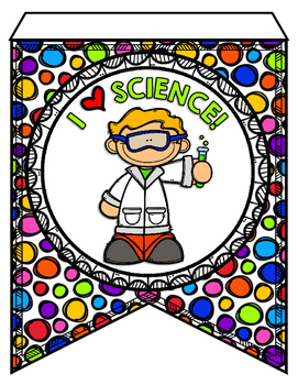 Next Generation Science Standards Pennant Banners 5th Grade - Polka Dot