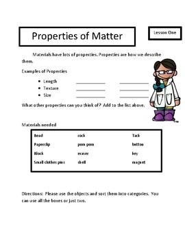 Next Generation Science Standards: Properties of Matter Unit