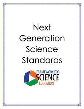 Next Generation Science Standards Science Anchor Charts K-4