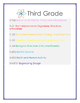 Next Generation Science Standards Science Anchor Charts Third Grade