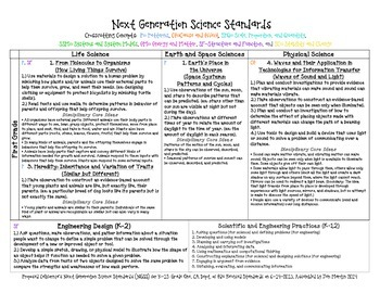 Next Generation Science Standards for First Grade