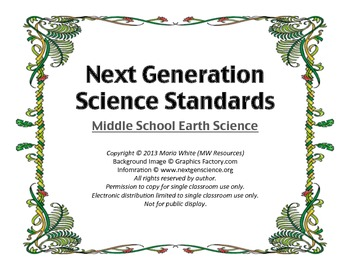 Next Generation Science Standards for Middle School Earth Science 5