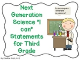 """Next Generation Science Standards - """"I Can"""" Statements for Third Grade"""