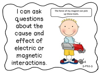 "Next Generation Science Standards - ""I Can"" Statements for Third Grade"