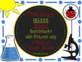 FIRST GRADE SCIENCE LEARNING GOALS WITH 2 SETS OF RUBRICS AND GRAPHICS