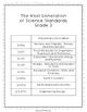 Next Generation of Science Standards Checklist Grade 3