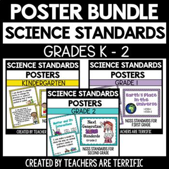 Next Generation Science Standards Poster Bundle for K-2 (NGSS)