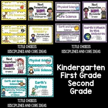 Next Generation Science Standards Poster MEGA Bundle for K-5 (NGSS)