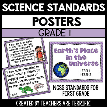 Next Generation Science Standards Posters for 1st Grade (NGSS)