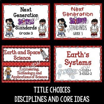 Next Generation Science Standards Posters for 3rd Grade (NGSS)