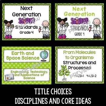 Next Generation Science Standards Posters for 4th Grade (NGSS)