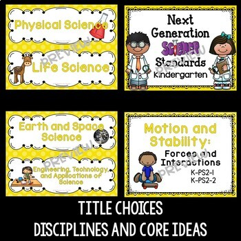 Next Generation Science Standards Posters for Kindergarten (NGSS)