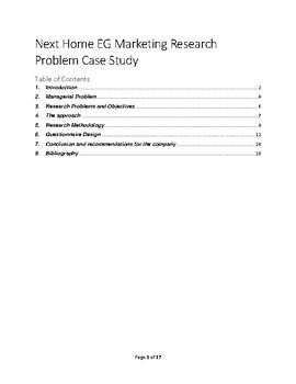 Next Home EG Marketing Research Problem Case Study