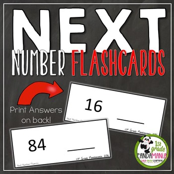 Next Number Fluency Flash Cards