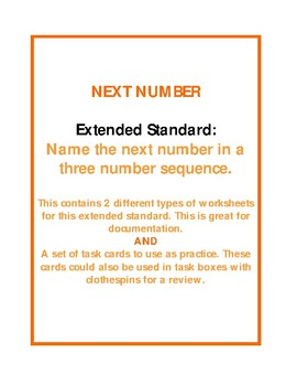 Next Number in a three number sequence - extended standard
