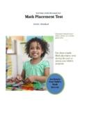 Next Step Math Placement Test - Level A - Preschool
