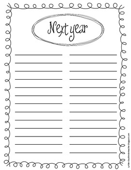 Next Year To Do List
