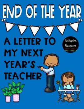 Next Year's Teacher Letter