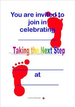 Next steps graduation invitation