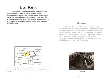 Nez Perce Informational Text