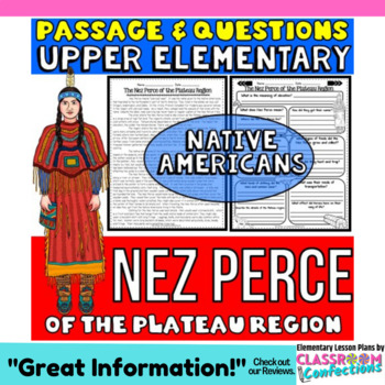 Native Americans Activity: Nez Perce Passage with Questions