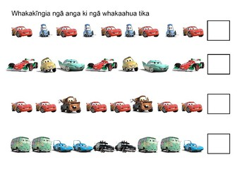 Ngā tauira motuka (Disney Cars)