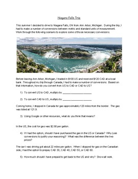 Niagara Falls Application - Unit Conversions