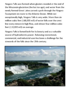 Niagara Falls Handout with activities