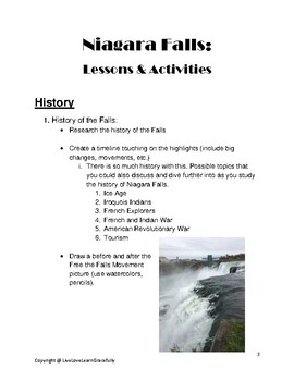 Niagara Falls: Lesson Ideas and Activities