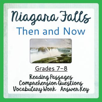 Niagara Falls Then and Now Informational Texts, Activities Grades 7-8