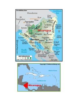 Nicaragua Map Scavenger Hunt