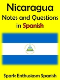 Nicaragua Notes and Questions in Spanish