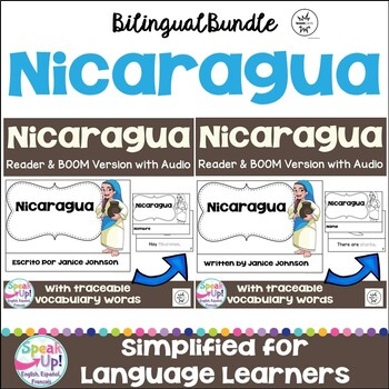 Nicaragua Reader & vocab pages in English & Spanish {Bilingual version}