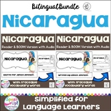 Nicaragua Reader & vocab pages in English & Spanish {Bilingual Bundle}