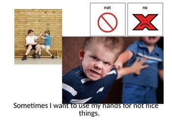 """Nice Hands"" Social Story"