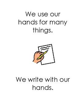 Nice Hands Social Story
