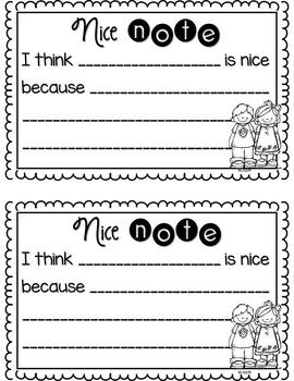 Nice Notes Writing Templates