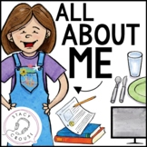 All About Me: A Get To Know You Activity for Teletherapy or Print