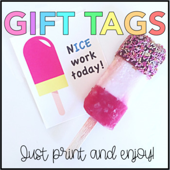 Popsicle Gift Tag (Student Appreciation)