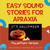 Nice and Easy Sound Stories: It's Halloween  NO PREP