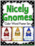 Nicely Gnomes | Polka Dots | Color Words Poster Set