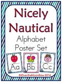 Nicely Nautical Alphabet Poster Set