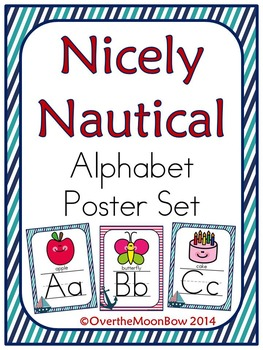 Nicely Nautical Alphabet Poster Set