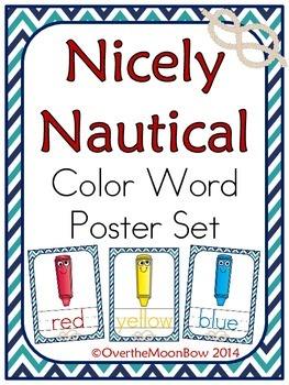Nicely Nautical Color Words Poster Set