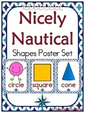 Nicely Nautical Shapes Poster Set