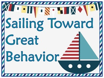 Nicely Nautical Themed Behavior Clip Chart