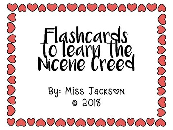 Nicene Creed Flashcards