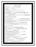 Nicene Creed Worksheet